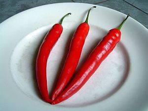 Paprika, Schmerzen