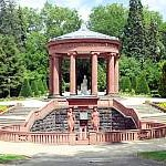 Brunnen, Elisabethenbrunnen, Kurpark, Bad Homburg, Panorama