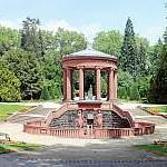 Brunnen, Elisabethenbrunnen, Kurpark, Bad Homburg, Panorama