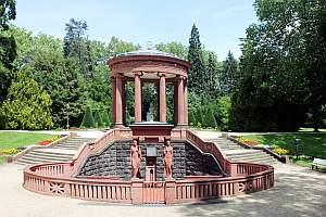 Brunnen, Elisabethenbrunnen, Kurpark, Bad Homburg